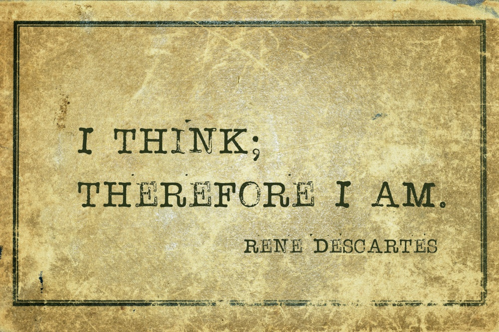 significado de penso logo existo
